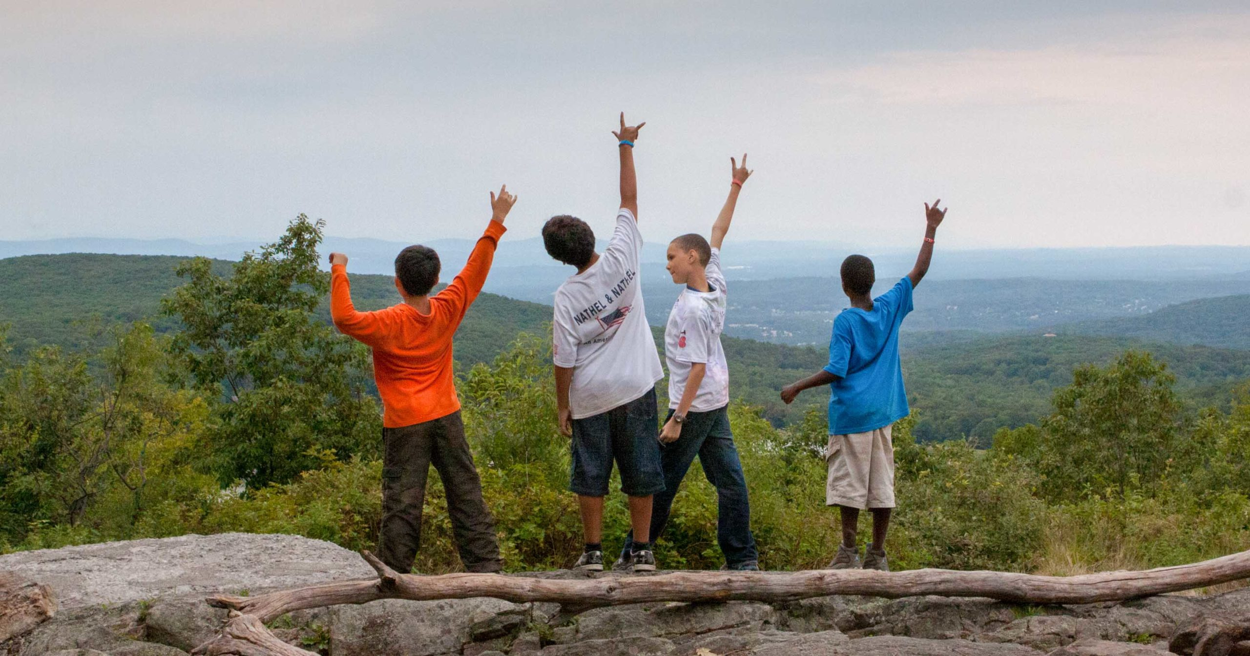 Camp HM campers hiking
