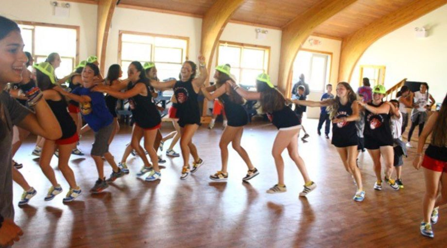 Dance-a-thon at summer camp