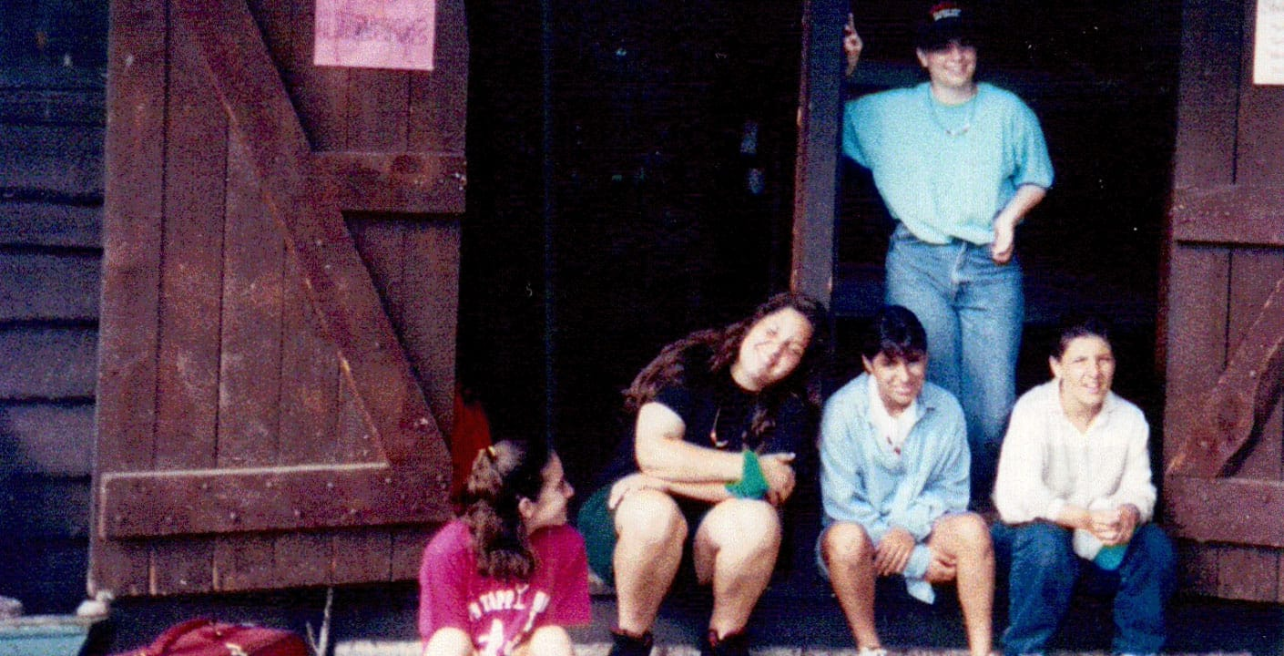 Old photo of Heather at camp in bunks