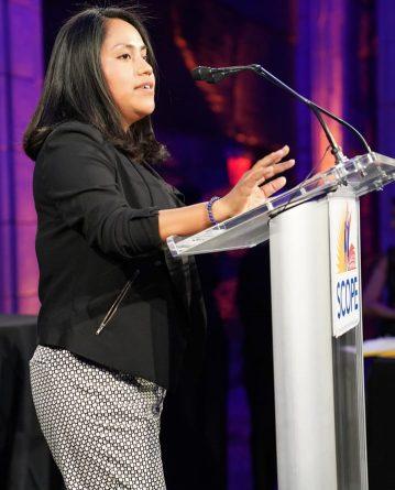 Maria speaking