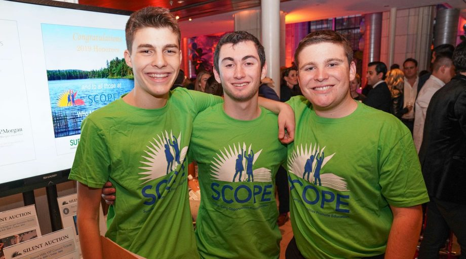 Young men attending the SCOPE Benefit