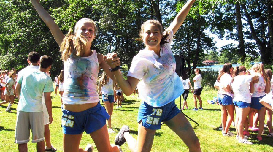 Girls at TCH color run