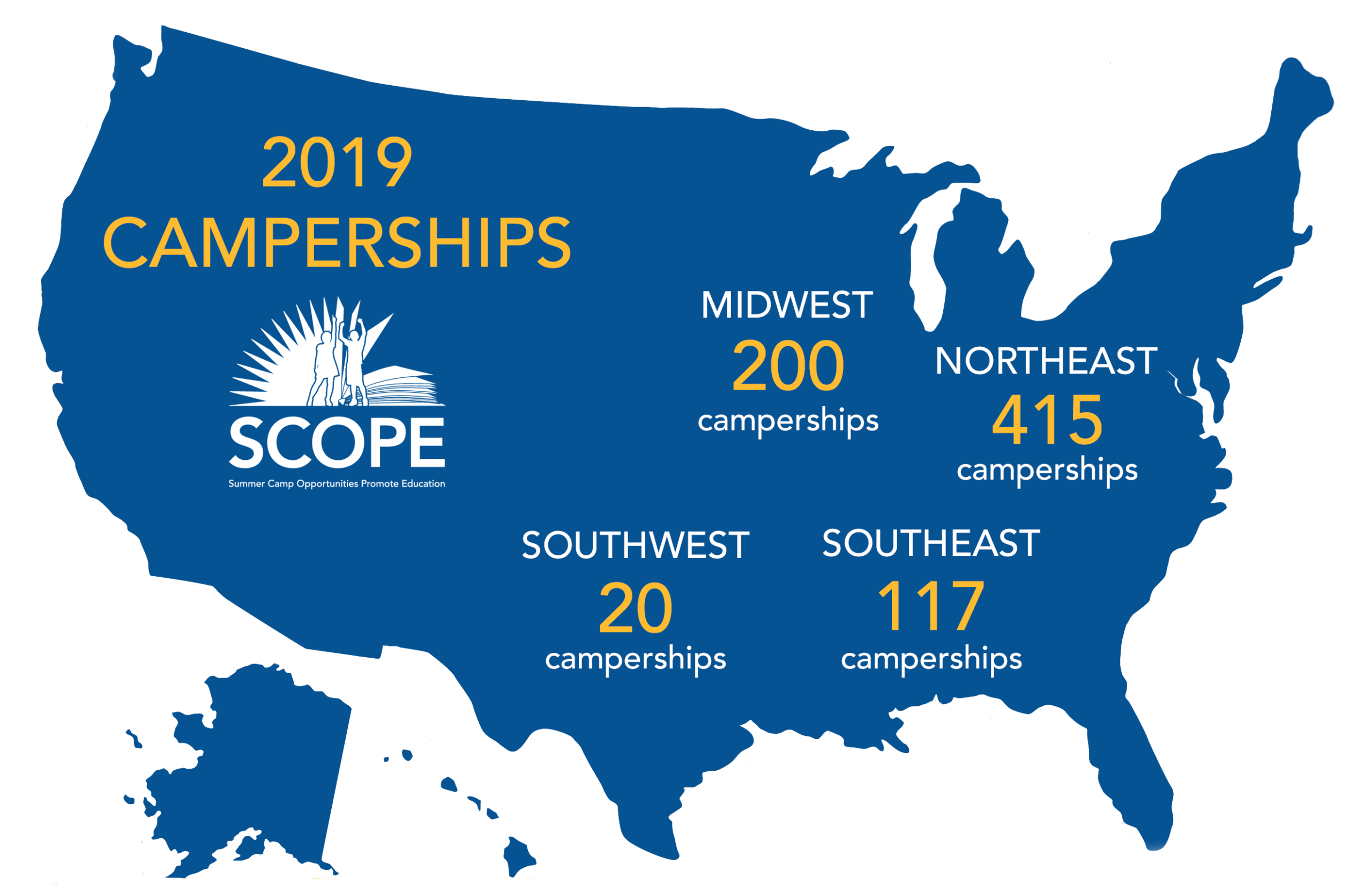 Campership USA Map 2019