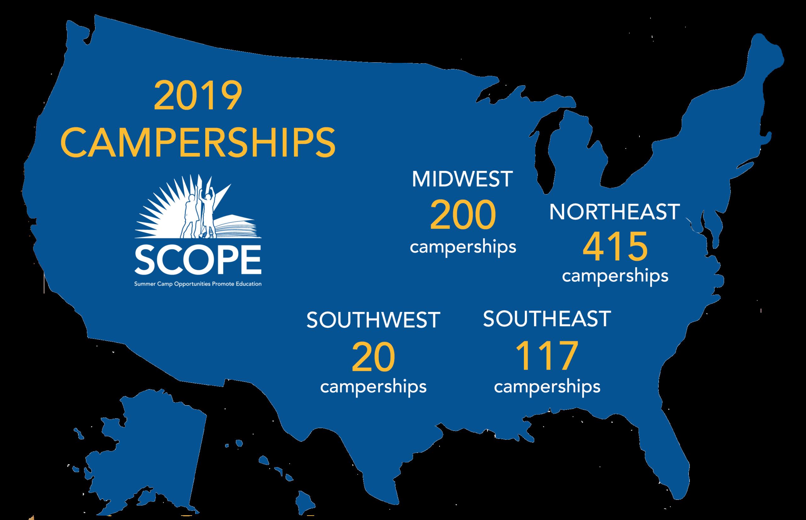 Campership USA Map 2019