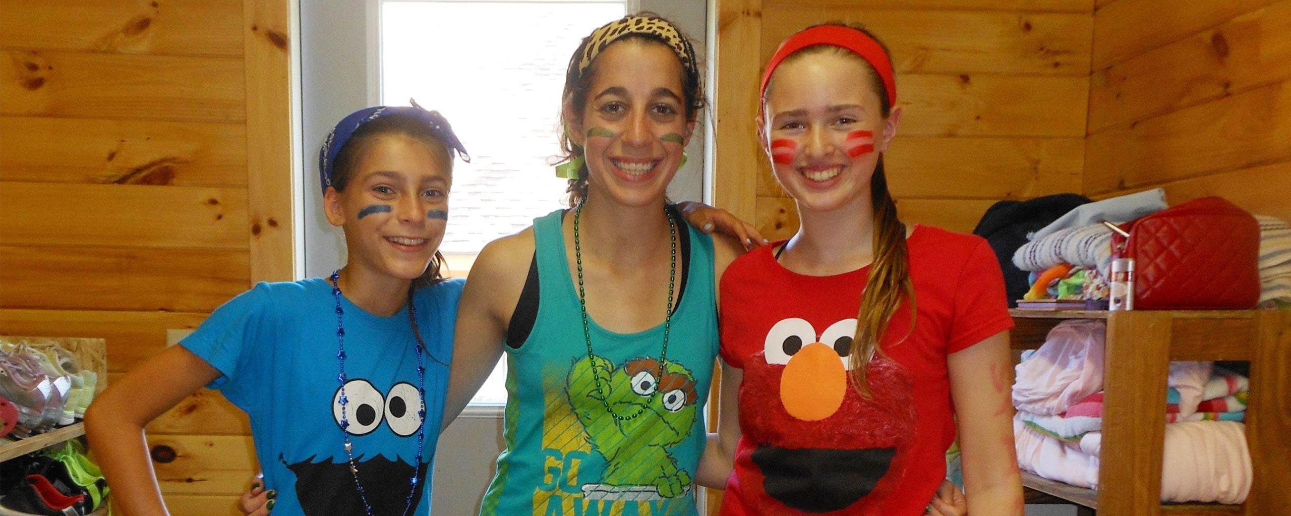 three female campers