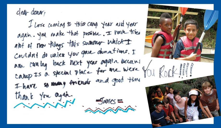 James' Camper Letter