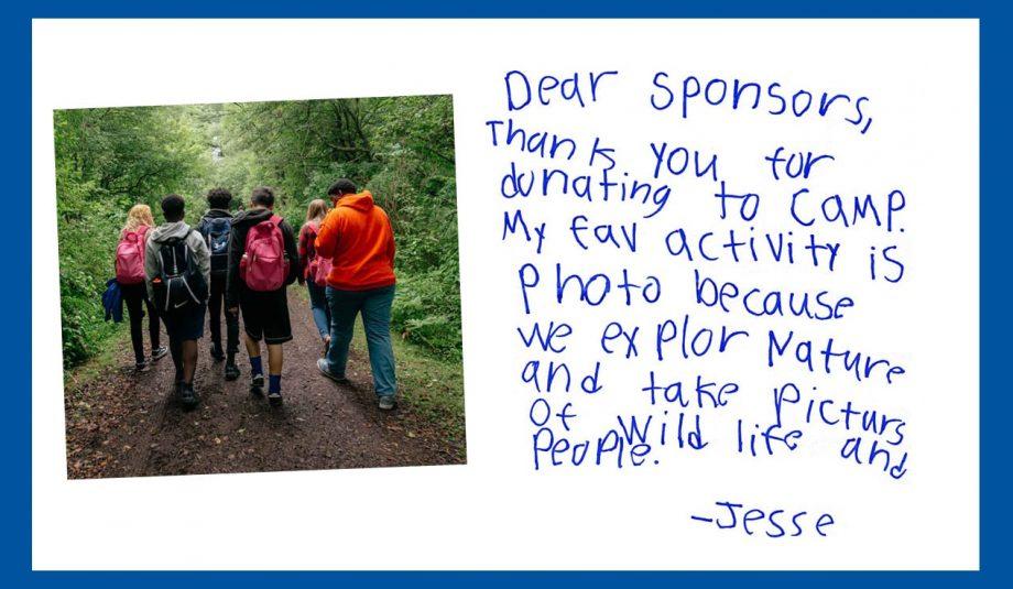 Jesse's Camper Letter