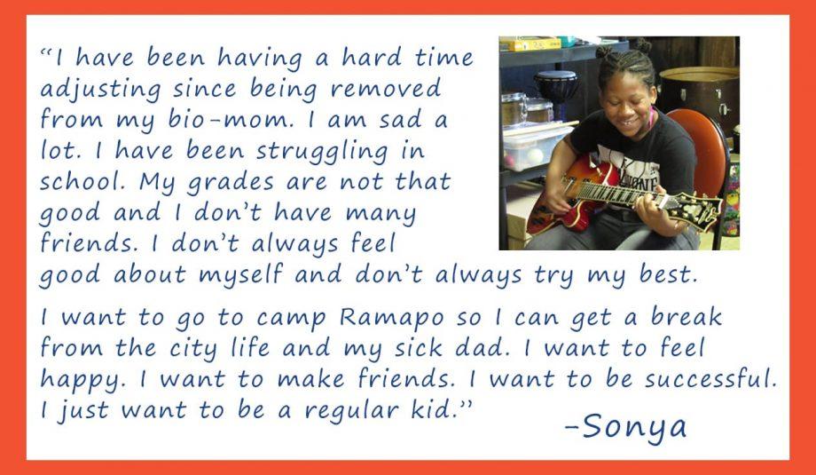 Sonya's Camper Letter