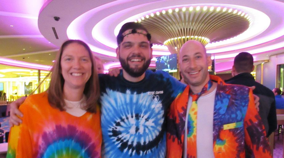 EPIC at a casino in tie dye