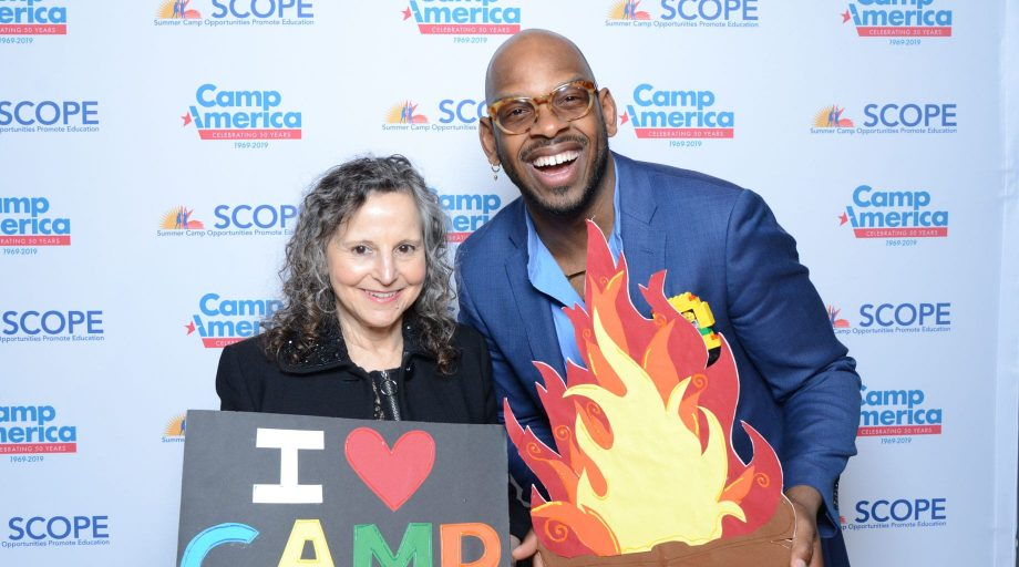 man and woman at SCOPE camp event