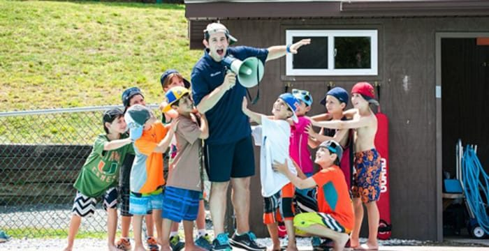 Matty with campers