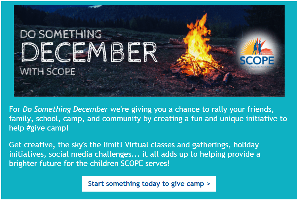 Do Something December with SCOPE