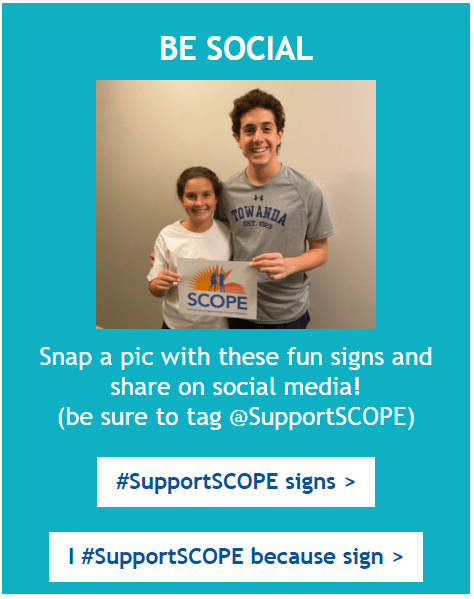 Be Social - I #SupportSCOPE