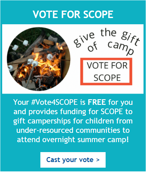 Give the gift of camp - vote for SCOPE